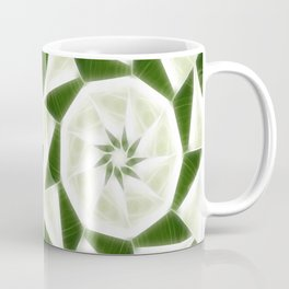 Green White Kaleidoscope Art 9 Coffee Mug
