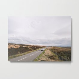 Scotland - nature - travel - autumn - print - photo - destination - road - car - landscape Metal Print