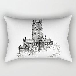 Cathedral Sketch Rectangular Pillow