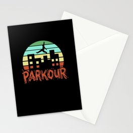 Parkour - Retro  Free Running Stationery Cards