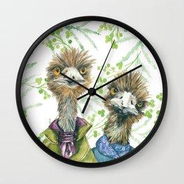 Edgar and Erwin Emu Wall Clock