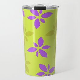 Illustration of flowers(yellow background) Travel Mug