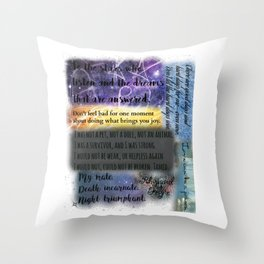 ACOMAF QUOTES Throw Pillow