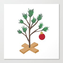 Alone at Christmas - Christmas Tree Canvas Print