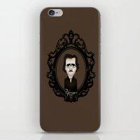 edgar allan poe iPhone & iPod Skins featuring Edgar Allan Poe by Designs By Misty Blue (Misty Lemons)