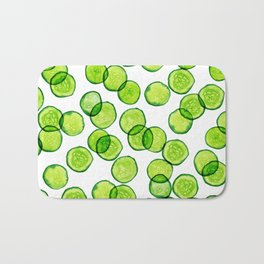 Cucumber Pattern Bath Mat