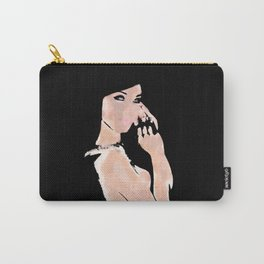 Woman Digital Painting Carry-All Pouch