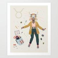 taurus Art Prints featuring Taurus by LordofMasks