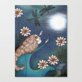 The Mermaid's Lake--Catching the Moon Canvas Print