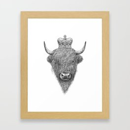 The King Highland Bull Framed Art Print