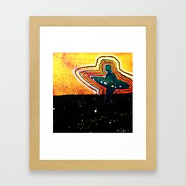 Square Halves Framed Art Print