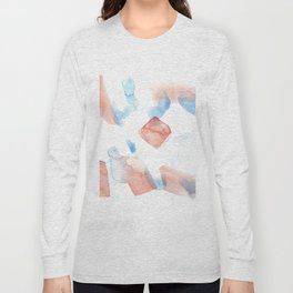 180527 Abstract Watercolour 11 | Watercolor Brush Strokes Long Sleeve T-shirt
