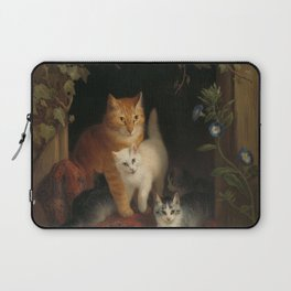 Henriëtte Ronner - Cat with kittens (1844) Laptop Sleeve