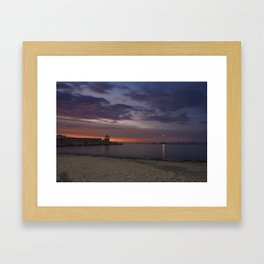 Front Beach After sunset Framed Art Print