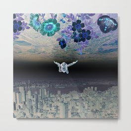 A Skydiver Between Two Parallel Universes Metal Print