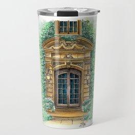 Parisian Door In Watercolor Travel Mug