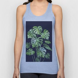 Delicate Monstera Blue #society6 Unisex Tank Top