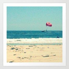 Para Sailing on the Beach  Art Print