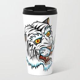 Traditional White Bengal Tiger Travel Mug