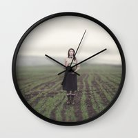 surrealism Wall Clocks featuring surrealism by imperfectionist