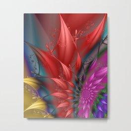 fractal flowerpower Metal Print