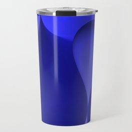 the color blue Travel Mug
