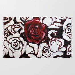 War of Roses Painting Rug