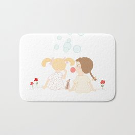 Blowing Bubbles Bath Mat