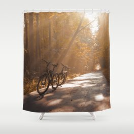 Morning Autumn Forest Shower Curtain