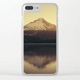 Sunrise at Trillium Lake - Oregon Adventure Clear iPhone Case