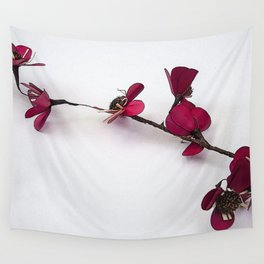 Dainty Red Single Stem Wall Tapestry