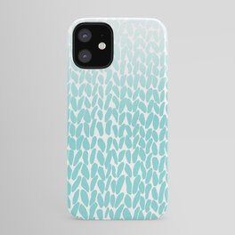 Hand Knitted Ombre Teal iPhone Case