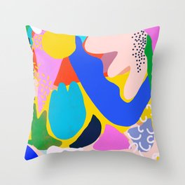 Unbridled Enthusiasm - Shapes and Layers no.38 Throw Pillow