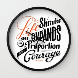 Life shrinks or expands... Wall Clock