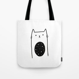 Galaxy Kitty Tote Bag