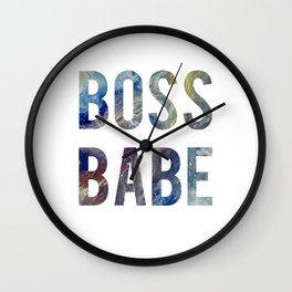 Boss Babe Blue Fluid Acrylic Wall Clock