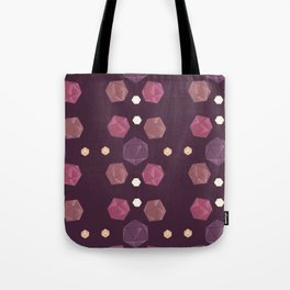 Red and Purple DnD Dice Tote Bag