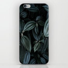 green leaves #society6 #decor #buyart iPhone Skin