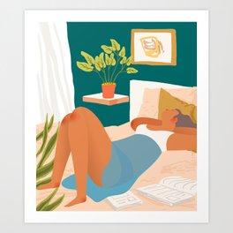 Not Today #illustration #plants Art Print