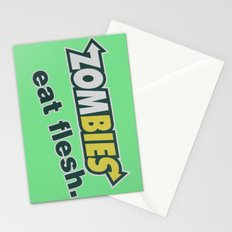 Zombie Eat flesh Stationery Cards