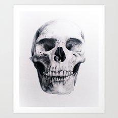 Skull Drawing Art Print