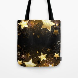 Background with golden stars Tote Bag