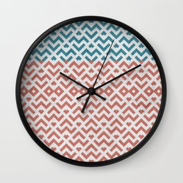 Rose and Gold Marble Pattern Wall Clock