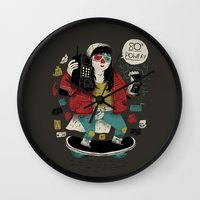 80s Wall Clocks featuring 80s power! by Louis Roskosch