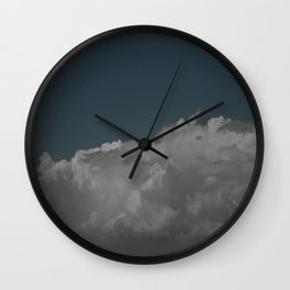 Cloudy blue Wall Clock