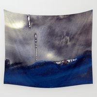 storm Wall Tapestries featuring storm by agnes Trachet