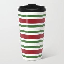 Merry Christmas colors striped lines Travel Mug