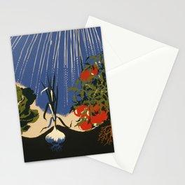 Vintage Vegetable Garden Illustration (1943) Stationery Cards