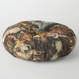 Pieter Bruegel the Elder The Fall of the Rebel Angels Floor Pillow