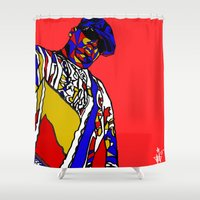biggie smalls Shower Curtains featuring BIGGIE by Fake Wealth